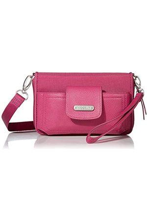 Baggallini Damen-Geldbörse mit RFID-Motiv, Pink (Deep Fuchsia)