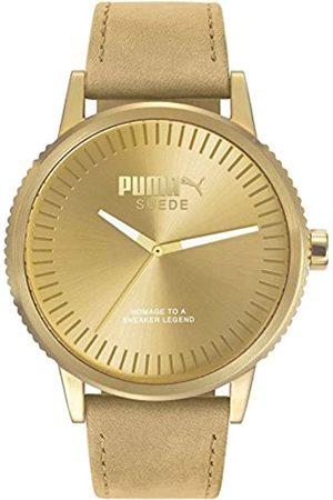 PUMA Unisex Erwachsene Analog Quarz Smart Watch Armbanduhr mit Leder Armband PU104101009