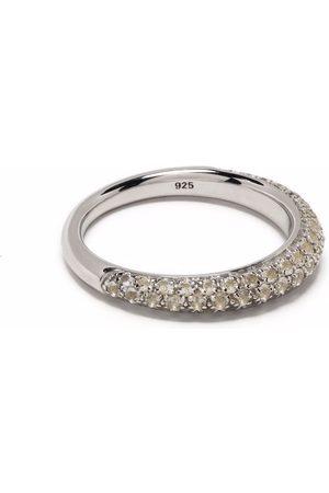 Tom Wood Schmaler Liz Ring mit Kristallen