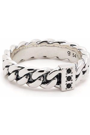 TOM WOOD Ringe - Schmaler Ring in Kettenoptik mit Spinell