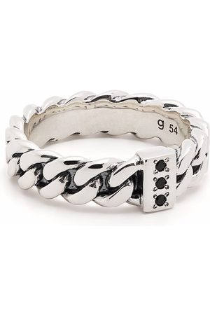 Tom Wood Schmaler Ring in Kettenoptik mit Spinell