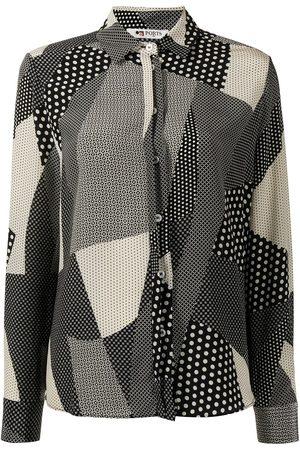 Ports 1961 Damen Blusen - Seidenhemd im Patchwork-Look
