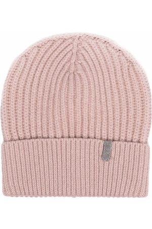 Brunello Cucinelli Damen Hüte - Verzierte Beanie aus Kaschmir