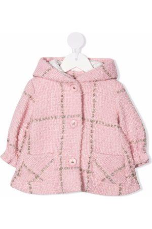 MONNALISA Gefütterter Tweed-Kapuzenmantel