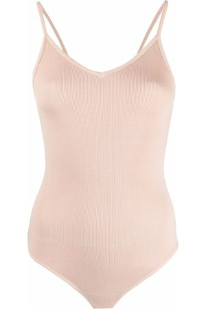 AGOLDE Ribbed-knit sleeveless bodysuit