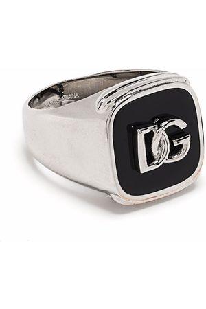 Dolce & Gabbana Siegelring mit Logo-Prägung