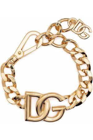 Dolce & Gabbana Panzerkettenarmband mit Oversized-Logo