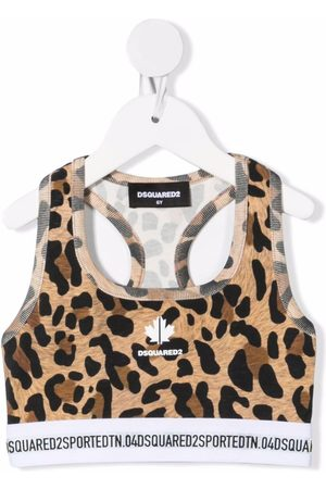 Dsquared2 Cropped-Tanktop mit Leoparden-Print