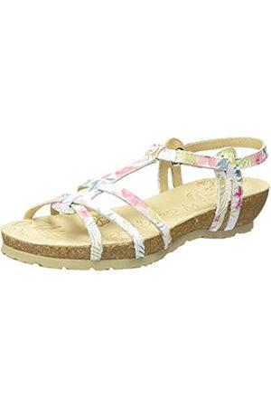 Panama Jack Damen Dori Tropical Offene Sandalen mit Keilabsatz, (White)
