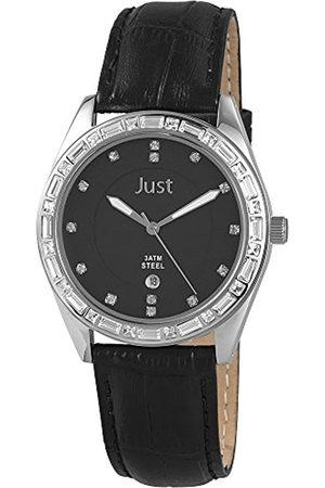 Just Watches Damen-Armbanduhr Analog Quarz Leder 48-S8262A-BK