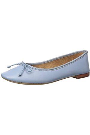 Aerosoles Homerun Damen Ballett flach, Blau (Mittelblaues Leder)