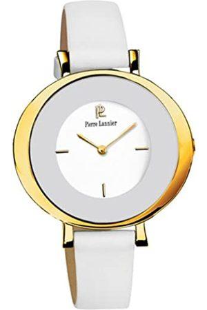 Pierre Lannier 174D500 Damen-Armbanduhr – Quarz Analog – Weißes Ziffernblatt – Armband Leder
