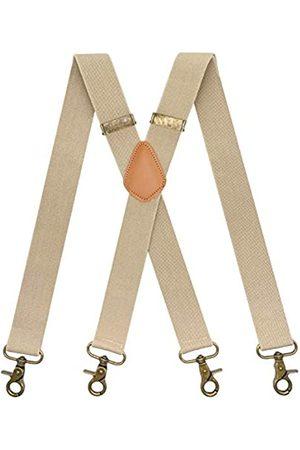 MENDENG Hosenträger für Herren Vintage Bronze Karabinerhaken verstellbar Hosenträger Trauzeugen - - Einheitsgröße