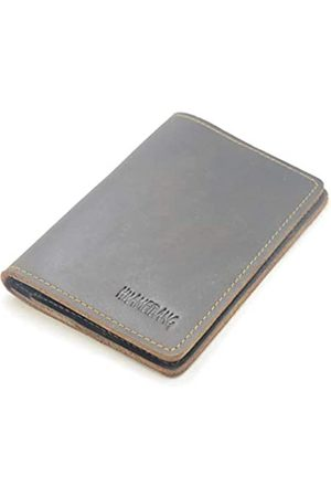 HUAMEIBANG Leather Passport Holder Potective Cover Travel Wallet (Dark Brown)