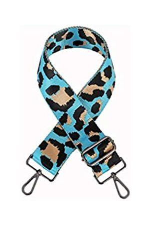 Sumily Schultertaschengurt Geldbörse Gurt Ersatz Crossbody Handtasche Streifen breit verstellbar, (Himmelblau (silberfarbenes Metall))