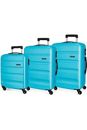 Roll Road Flex Kofferset 55/65/75 cms Hartschalen ABS Kombinationsschloss 182L 4 Räder Handgepäck