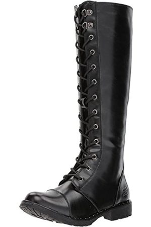 Dirty Laundry Womens Roset Combat Boot, Black Smooth