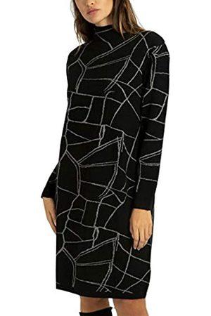 Apart Damen Knitted Dress With Glitter Cocktailkleid