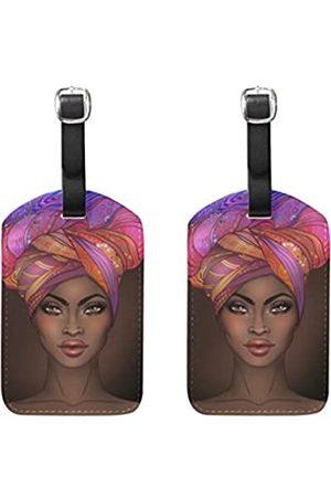 senya Gepäckanhänger, afrikanische amerikanische Frau, Reiseausweis, Tasche, Koffer, Seesack, Rucksäcke, Handtaschen, Anhänger