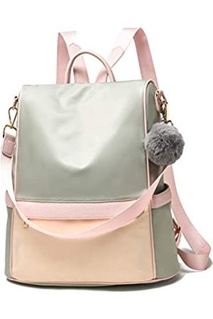 Cheruty Women Backpack Purse Nylon Anti-theft Fashion Casual Lightweight Travel School Shoulder Bag(Green& Large)
