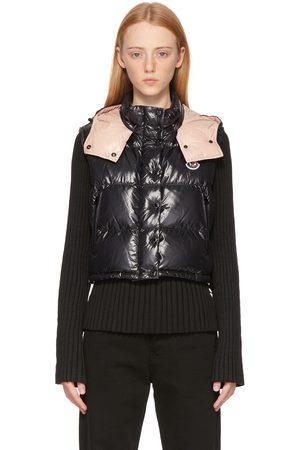 Moncler Black & Pink Down Alpiste Short Vest
