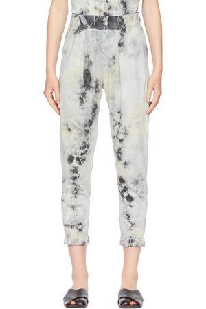 RAQUEL ALLEGRA Black Tie-Dye Easy Lounge Pants