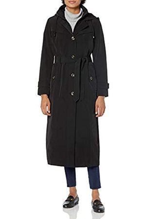 London Fog Damen Women's Single-Breasted Maxi Raincoat with Inner Bib Regenmantel