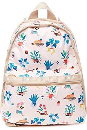 LeSportsac Basic Rucksack / Rucksack, Stil 7812/Farbe F645, bunt, verspielt, gemütlich, Kätzchen und Katzen inmitten Blumen-Designs