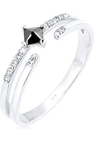 Elli Ring Damen Modern mit Zirkonia Steinen mit Kristall in 925 Sterling