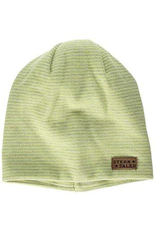 Sterntaler Slouch-Beanie mit gestreiftem Muster und Aufnäher, Grün