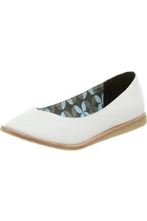 BC Footwear Damen-Ballerinas, homöopathisch, flachß (Wei)