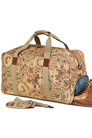 Kemy's Canvas Duffle Bag Women Overnight Weekender Bag Oversized Ladies Weekend Carryon Duffel Large (khaki) - KM8020T-1
