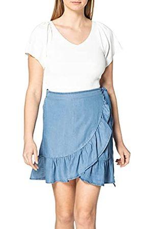 ONLY Damen ONLSOFIA WRAP Knee DNM Skirt Rock