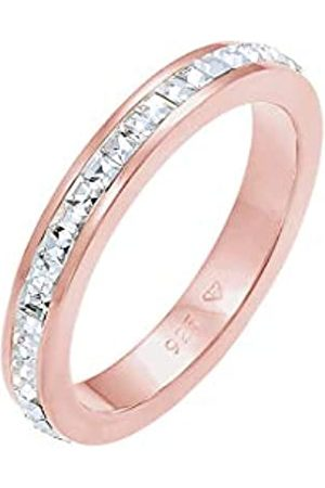 Elli PREMIUM Ring Damen Elegant Schlicht mit Kristalle aus 925 Sterling Silber