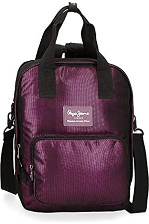 Pepe Jeans Lily Laptop-Rucksack Violett 28x37x13 cms Polyester 13