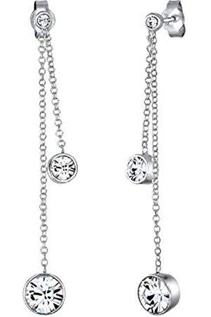 Elli Ohrringe Damen Ohrhänger filigran elegant mit Kristallen in 925 Sterling