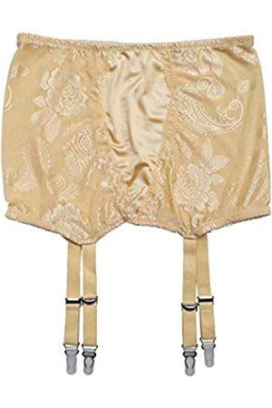 TVRtyle S503G Damen Übergröße Golden Sexy Vintage Metallclips Strumpfband Gürtel für Strümpfe - Wei� - M