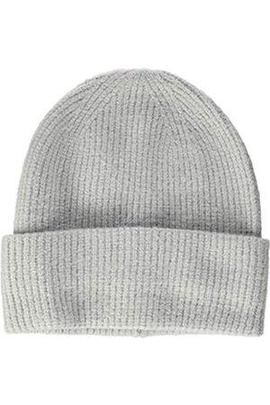 TOM TAILOR Damen RIPP Beanie-Mütze, 11282-Silver Grey Melange