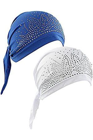 MUZOOE Vorgebundene Chemomütze für Damen, Beanie, Turban, Kopfbedeckung für Krebspatienten