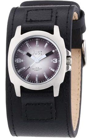 Just Watches Damen-Armbanduhr XS Analog Quarz Leder 48-S9238L-BK-SL