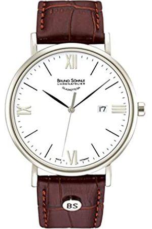 Soehnle Bruno Söhnle Herren Analog Quarz Uhr mit Leder Armband 17-13085-971