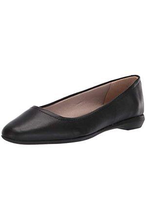 Naturalizer Women's ALYA Ballet Flat, Black Leather