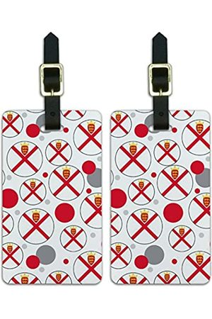 Graphics and More Graphics & More J-n-Jersey Nationalflagge - Luggage.Tags.09608