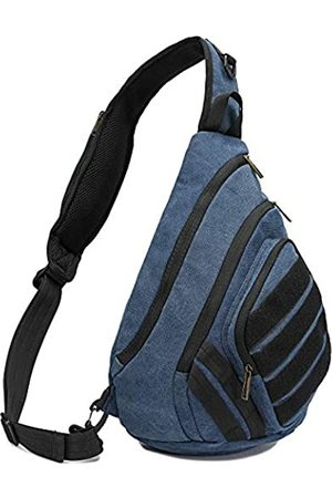 "AOPUOP LING Chest Bag Diagonal Canvas Wasserdicht Tasche Freizeit Reise Single Shoulder Bag 14"" Computer Bag for Men and Women"