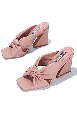 Cape Robbin Anni Sexy Chunky High Heels für Frauen, Booties für Frauen mit quadratischem offenen Zehenbereich, Pink (blush)