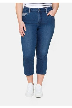 Sheego Jeans Femmes Pantalon Jeans stretch Taille 44 à 50 Used Look Bleu 825