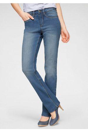 ARIZONA Gerade Jeans »Comfort-Fit« High Waist mit Kontrastnähten