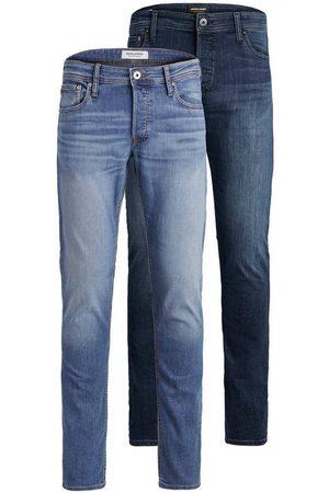 JACK & JONES Slim-fit-Jeans »GLENN ORIGINAL« (Packung, 2-tlg., 2er-Pack) 2er Packung
