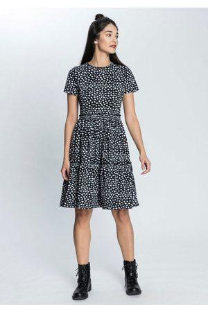 AJC Sommerkleid »Sommerkleid mit Kurzärmel und Volant« in verschiedenen Druck-Designs - NEUE KOLLEKTION