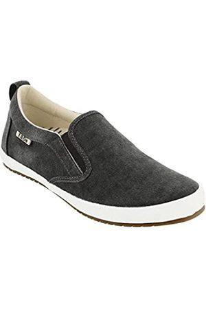 Taos Footwear Damen Dandy Slip On, Braun (Dunkelgrau gewaschenes Segeltuch)